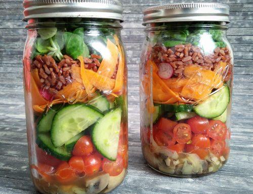 Preparar ensaladas para batchcooking: