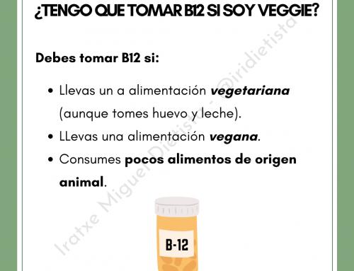 ¿Tengo que tomar b12 si soy veggie?