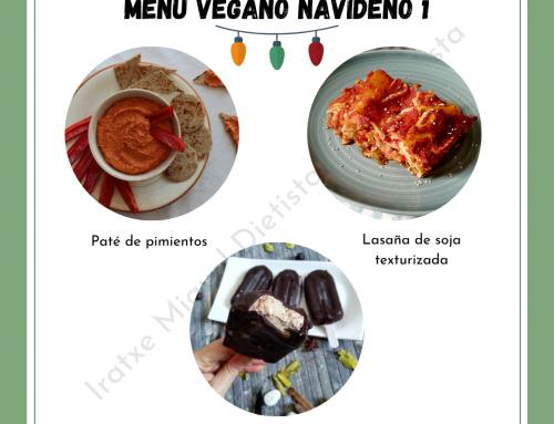 Menús veganos de navidad