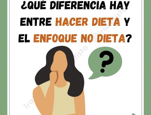 ¿Qué diferencia hay entre hacer dieta y el enfoque no dieta?